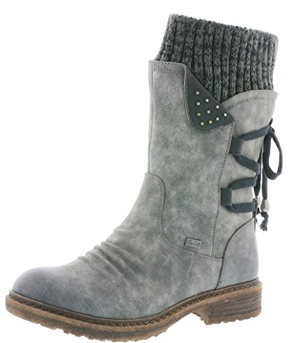 Rieker 94773 Damen Stiefel, Stiefelette, Schlupfstiefel, Boot, Slip-On Boot, Warmfutter, Tex,...