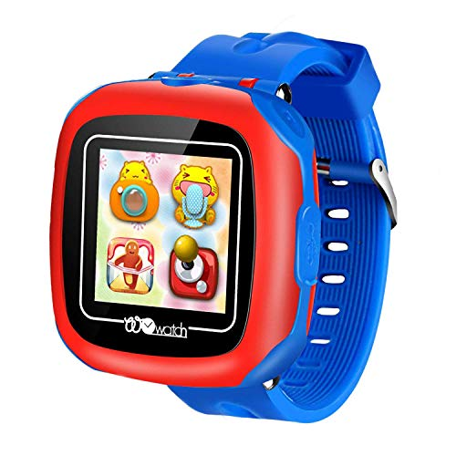 bhdlovely Juego Reloj Niños Smartwatch para Niña Niño Regalos con Cámara 1.5 '' Touch 10 Juegos Despertador (Azul)