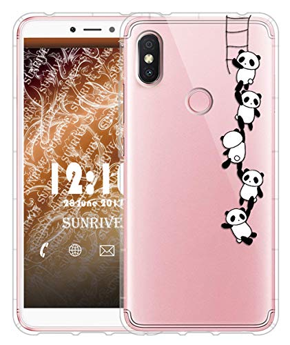 Sunrive Für Xiaomi Redmi S2 Hülle Silikon, Transparent Handyhülle Luftkissen Schutzhülle Etui Case für Xiaomi Redmi S2(TPU Panda 1)+Gratis Universal Eingabestift