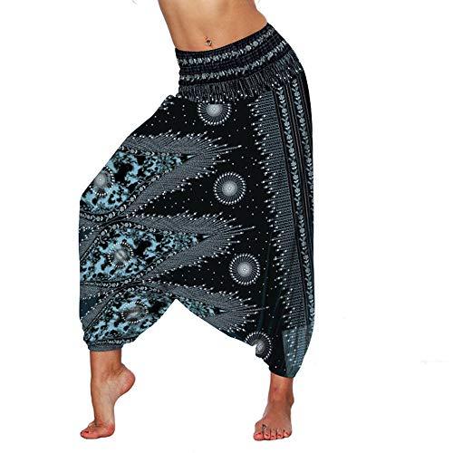 quming Sin Costuras Malla Mujer Deportivo,PantalonesUnisex de laYoga del harén delrayón, pantalón-3 de la Entrepierna del Descenso de los Pantalones del Hippie