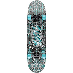 Xootz Kids Industrial Complete Beginners Double Kick Trick Skateboard Maple Deck - Industrial, 31 x 8 Inches:Superhyipmonitor