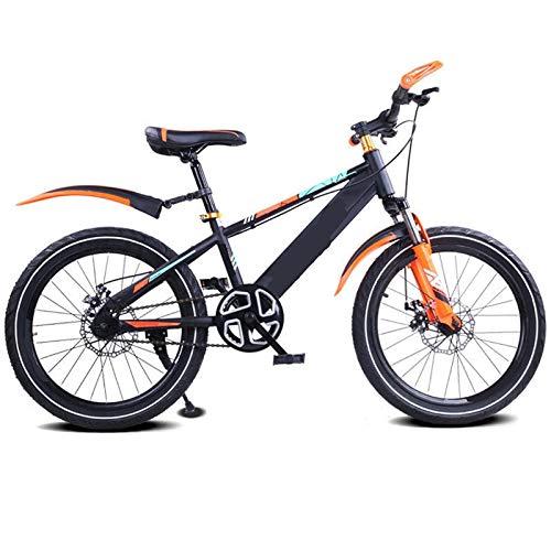 ZJBKX Bicicleta de los niños de la bicicleta del freno de disco de la absorción de choque de la sola velocidad, 20 pulgadas bicicleta de montaña estudiante bicicleta