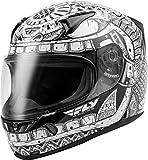 FLY Racing Revolt Codex Helmet, Full-Face Motorcycle Helmet for Men and Women Street (WHITE/BLACK, XL)