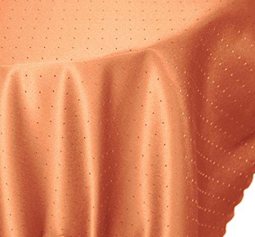 Tovaglia ovale, 130 x 260 cm, con struttura a fase, non necessita di stiratura, antimacchia, #1541, arancione