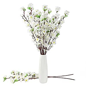 10PCS Artificial Cherry Blossom Branches Silk Spring Peach Blossom Fake Flowers Arrangements for Home Wedding Decoration