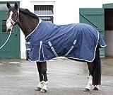 PFIFF 101671 Pferde Ganzjahres Decke, Weidedecke Pferdedecke Regendecke, Blau 155 cm