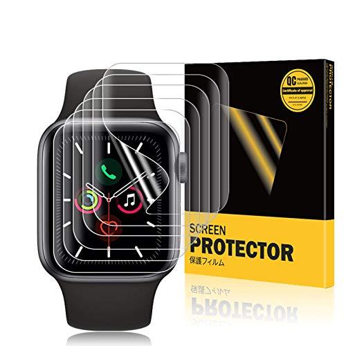 A-VIDET 6 Stück Schutzfolie kompatibel mit Apple Watch Series 6/SE/Series 5/Series 4 44mm & Series 2/Series 3 42mm,Wasserfreie Adsorption Flexible Screen Protector Bildschirmschutzfolie