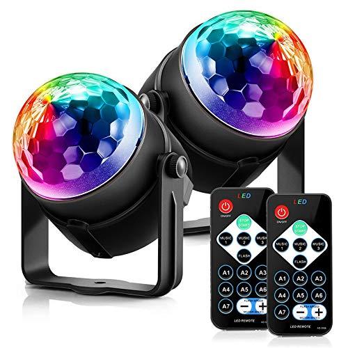 JALAL Luz de Vacaciones 3 Modos de Control RGB LED Efecto de...