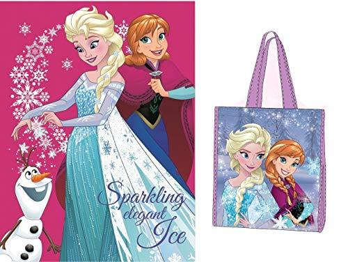 Trendstern ® Frozen Kuscheldecke Die Eiskönigin Anna und ELSA - Fleecedecke Decke+ Extra Zugabe (Variante 6, 120 x 150 cm)