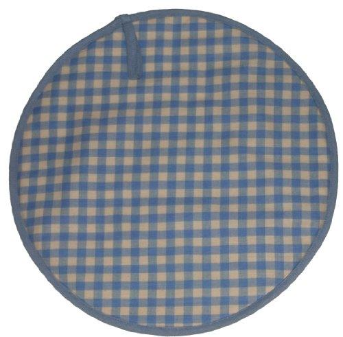 Sterck algodón redondo cuadros Gingham cuadros Cook Aga almohadilla en azul rndpadzbl