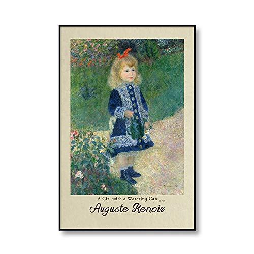 Famosos carteles e impresiones de pintura al óleo de Auguste Renoir, pinturas de lienzo decorativas sin marco familiares vintage Q-3 50x75cm
