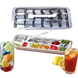 Stainless steel ice cube trays FAST ICE & DISHWASHER SAFE 18 Slot Ice Cube Tray metal ice tray with lever
