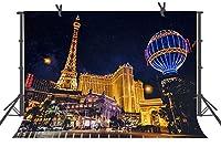 HD 7x5ftパリエッフェルタワー夜景写真背景市夜景背景スタジオ小道具LYFU511