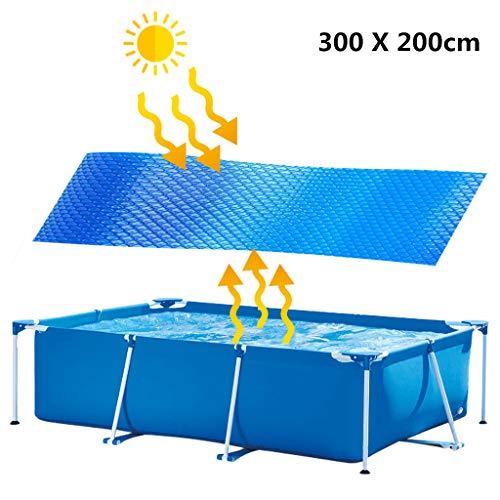 Bumplebee Solarplane Pool Rund, Folie für Poolerwärmung, Dick und Stabil Solarfolie Cover für Runde Pools, Poolplane Solarabdeckplane Poolheizplane Rund (300 X 200cm)