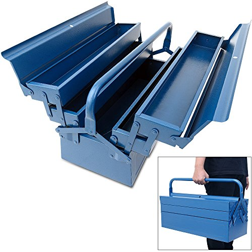 Stahl Werkzeugkoffer Leer,Werkzeugkoffer Werkzeugbox Werkzeugkiste Werkzeug Montage...