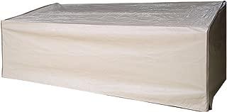 Abba Patio 3-Seat Patio Wicker/Rattan Deep Lounge Sofa Cover, Water Resistant, Beige