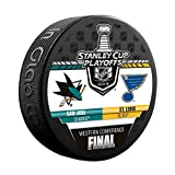 Inglasco 2019 NHL Conference Final Dueling Souvenir Puck: Blues vs Sharks -