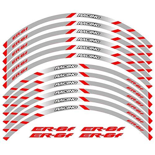 Equipo de carreras de motocicletas Accesorios Accesorios Rueda Neumático RIM Decoración adhesiva adhesiva Calcomanía de calcomanía para Kawasaki ER-6F ER6F (Color : 240110)