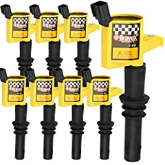 Upgrade 15% More Energy Than OE Coils Reduces Misfire and Eliminates Hesitation Super High Conductive Coil and Super High Di-electric Performance Epoxy,5 Years Warranty IGNITION COILS fit selected Ford 4.6l 5.4l v8, Lincoln and Mercury vehicles inclu...