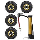 Demeras 2.2 Pulgadas 135 mm Repuestos de actualización de neumáticos inflables Accesorio de...