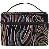 Bolsas de Maquillaje de Viaje con Cremallera Ilustración Animal o Bolsa de cosméticos Zebra Estuche multifunción portátil