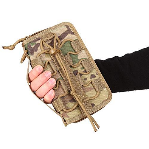 yanshan Bolso táctico del Ventilador del ejército al Aire Libre Bolsa de Herramientas de Nylon for Acampar Bolso de Billetera de Deportes Militares (Color : MC Camo)
