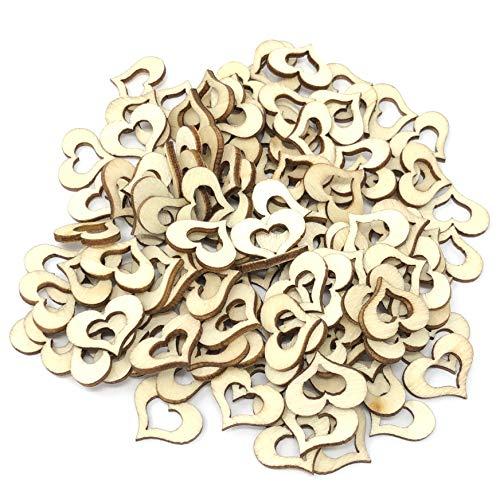 15 mm à double ouvert cœurs en bois style shabby chic Craft Scrapbooking vintage Hearts 15mm marron