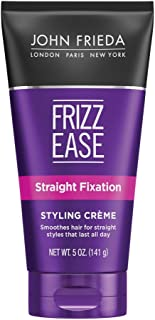 John Frieda Frizz Ease Straight Fixation Styling Creme, Voilet , 5 Ounces