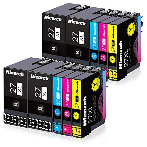 Hicorch 27XL Cartucce d'inchiostro Compatibile con Cartucce Epson 27 XL per Epson WorkForce WF-3620 WF-3640 WF-7110 WF-7210 WF-7610 WF-7620 WF-7710 WF-7715 WF-7720(4 Nero,2 Ciano,2 Magenta,2 Giallo)