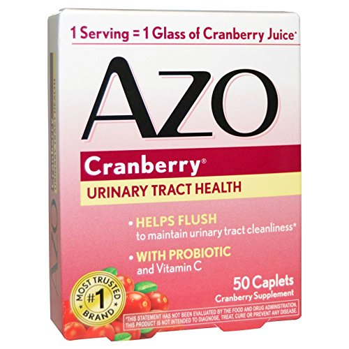 AZO Cranberry Urinary Tract Health, 50 Caplets Each (Pack of 7)