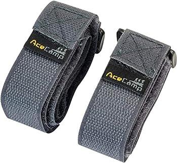 AceCamp Sangle 2,5 x 60 cm Sangle Tout Usage: Taille: 90 cm, Sangle de Fixation, vélo, Sport, Gris, 9113