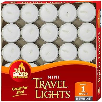 Ner Mitzvah Mini Tealight Candles 50pk product image