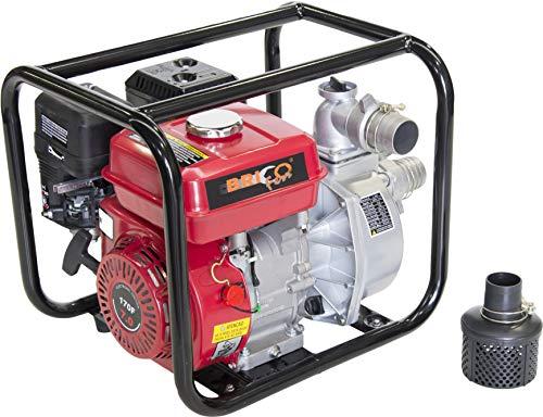 Bricoferr BFH034 Bomba de Agua con Motor de Gasolina 7HP 212cc