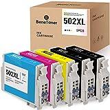 5 BeneToner 502 XL Druckerpatronen Kompatibel für Epson 502XL für Epson Workforce WF-2860 WF-2860DWF WF-2865 WF-2865DWF, Expression Home XP-5100 XP5100 XP-5105 XP5105