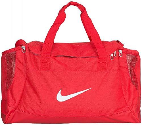 Nike Club Team Swoosh Duff L Bolsa de Deporte, Hombre, Rojo (Universitario)/Blanco, Talla única