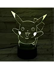 LED-videospel Pokémon Pikachu sprong, kleurverandering, USB-nachtlampje en decoratie