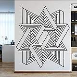 wZUN Etiqueta engomada del Arte de la Pared geométrica Abstracta diseño único Etiqueta de la Pared Papel Pintado Mural de la Oficina Desmontable 42X49cm