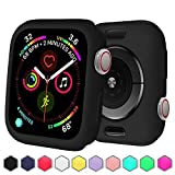 BOTOMALL for iWatch Case 38mm 42mm 40mm 44mm Premium Soft Flexible TPU Thin Lightweight Protective Bumper Cover Protector for Smartwatch Series 5 4 Series 3 2(Black,38MM Series 3/2)