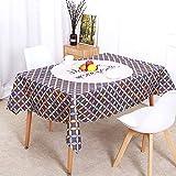 XXDD Mantel Impermeable de polígono geométrico con Estilo de decoración Fresca nórdica, Mantel de decoración para cocinas caseras A1 140x140cm
