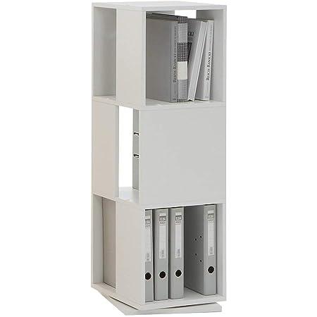 FMD 291-001_we Tower Etagère Pivotante de Rangement avec 3 Compartiments