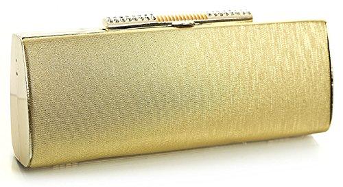 Big Handbag Shop, Poschette giorno donna Giallo Oro - Oro