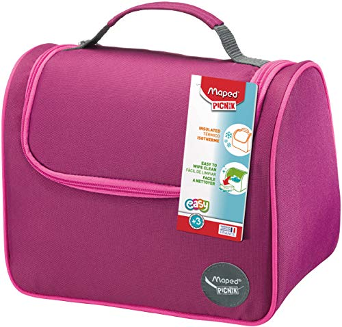 Isolierte Lunch Tasche von Maped, passend zu den Picnik Lunchboxen und Trinkflaschen, Farbe Pink