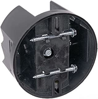 Carlon CFB-12 Ceiling Fan Box, Saddle, Round, New/Old Work, 4-Inch Diameter by 2-3/8-Inch Depth, Black