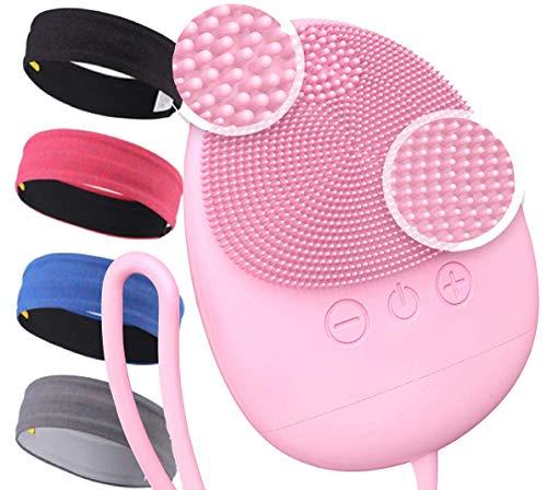 Cepillo De Limpieza Facial Dispositivo De Belleza Para Cara Cepillo Facial De Silicona Masajeador Facial Eléctrico Impermeable Exfoliación Regalo Mujer