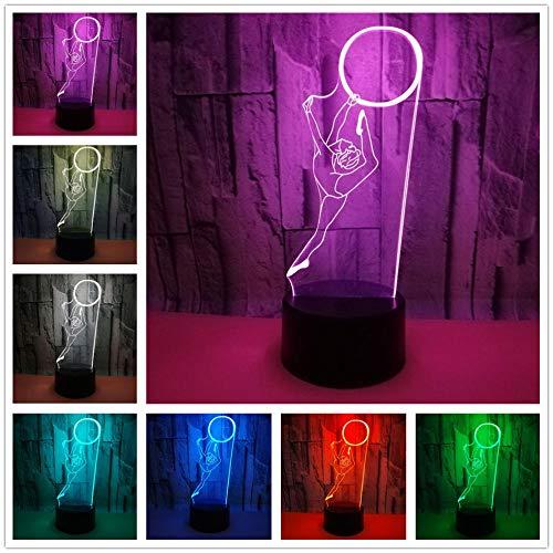 Ilusión 3D Luces 3D Luz Nocturna Gimnasia Lámpara De Escritorio 16 Colores Cambio Touch Con Cable Usb - Aplicación Bluetooth Control Dormitorio Sala