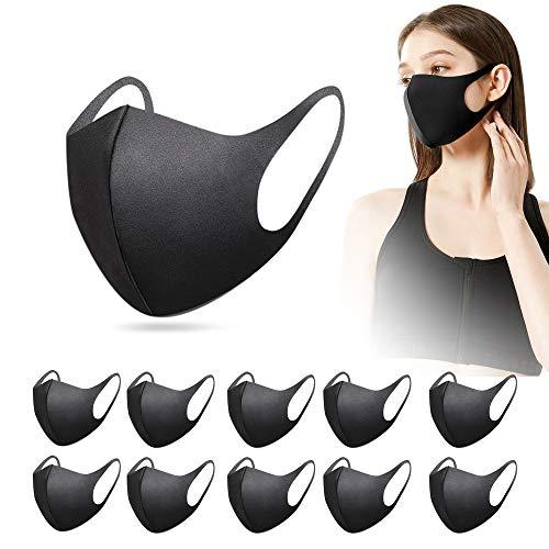 15 Stück mund und nasenschutz mundschutz waschbar Staubdicht, atmungsaktiv, verstellbar, wiederverwendbar