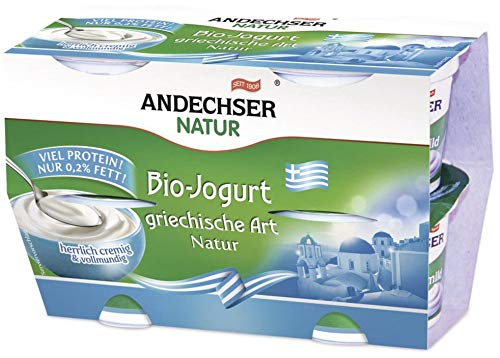 Andechser Natur Bio AN Bio-Jogurt griechische Art 0,2% 4x100g Cluster (6 x 400 gr)