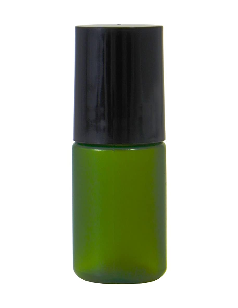 貫入毛皮暴行ミニボトル容器 5ml グリーン (100個セット) 【化粧品容器】