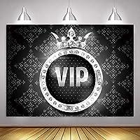 MME ファンタジー パープル VIP 王冠 背景 スイート16 誕生日パーティー 写真 背景 小道具 ビニール 写真 ビデオ 背景 ドロップ