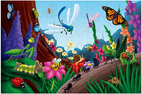 Giant Floor Jigsaw Puzzle, Jumbo Bugs and Insects Game (1.9...